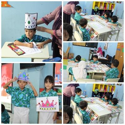 Project Art Craft Mewarnai Gambar Mahkota